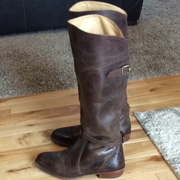 63d9c1f5006e Frye Shoes - Distressed Brown Frye Dorado Riding Boots!